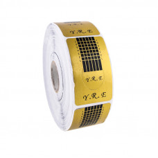 YRE Формы узкие для наращивания ногтей (золотые), 500 шт.