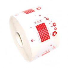 Формы для наращивания ногтей Бело-красные широкие 300шт