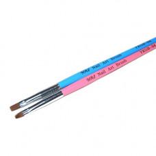 YRE YKGB-04P Кисть для геля #4 розовая прямая