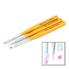 YRE B-19 Набор кистей для рисования 3шт золотая ручка