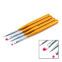 YRE B-18 Набор кистей для рисования 4шт желтая ручка