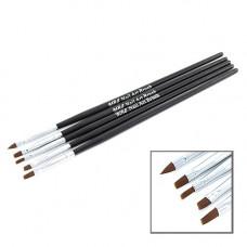 YRE B-31-1 Набор кистей для рисования 5шт черная ручка
